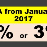 DA from Jan 2017 – 2% or 3% ?