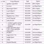 List of Holidays for the year 2018 for Tamil Nadu Government Employees – Tamil Version
