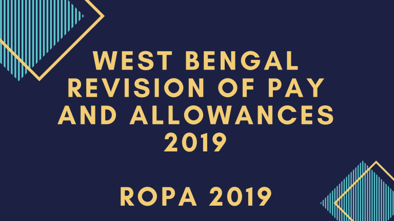 West Bengal ROPA Rules 2019