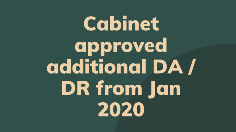 Cabinet approved additional DA / DR from Jan 2020