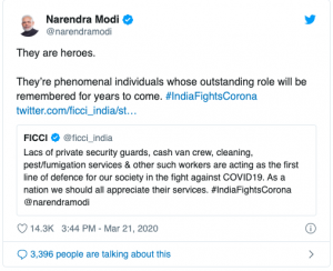 PM Tweets for COVID-19