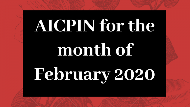 AICPIN for the month of February 2020