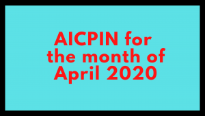 AICPIN for the month of April 2020