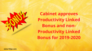 Cabinet approves Productivity Linked Bonus and non-Productivity Linked Bonus for 2019-2020
