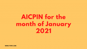 AICPIN for the month of January 2021