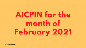 AICPIN for February 2021
